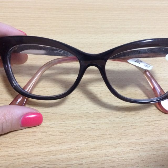 Anthropologie Glasses (Gold Temples & Pink Temple Tips)