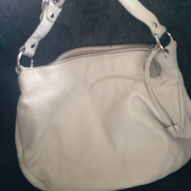 Authentic Coach White Hobo Shoulder Bag