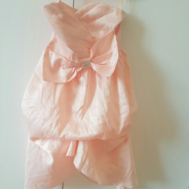 Baby Peachy Pink Dress SIZE 6-8