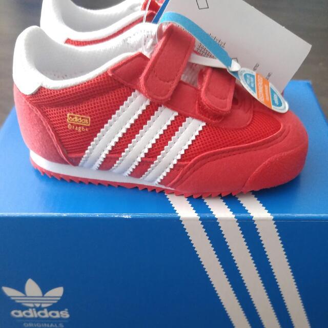Brand New Adidas Originals Kids Dragon CF 1 Shoes, Babies