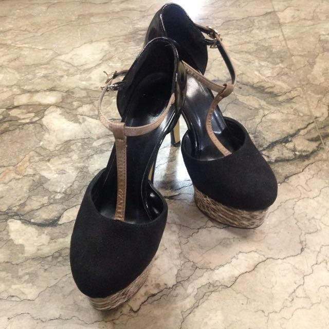 CLN T-strap Platform Heels
