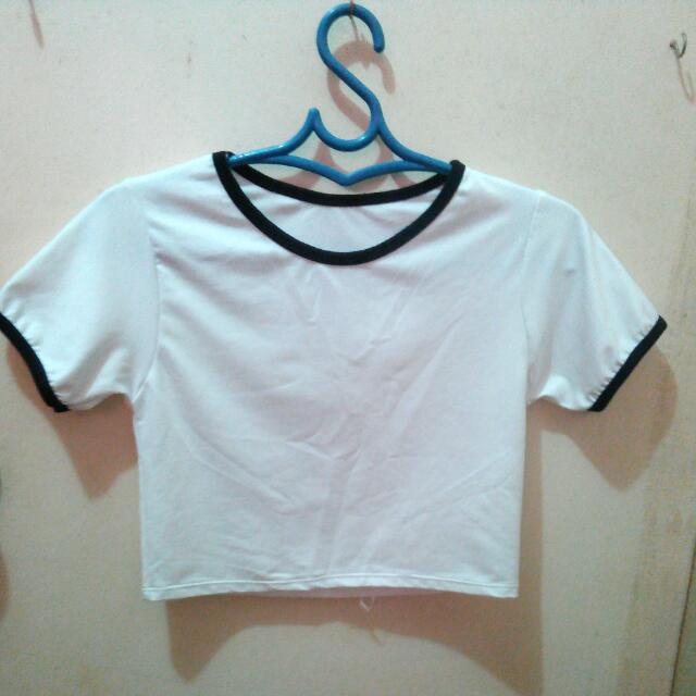 Cropped ringer tee (fitted)