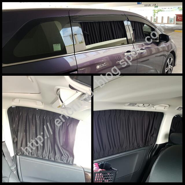 custom window curtains for 15 16 honda odyssey rc1 car accessories on carousell. Black Bedroom Furniture Sets. Home Design Ideas