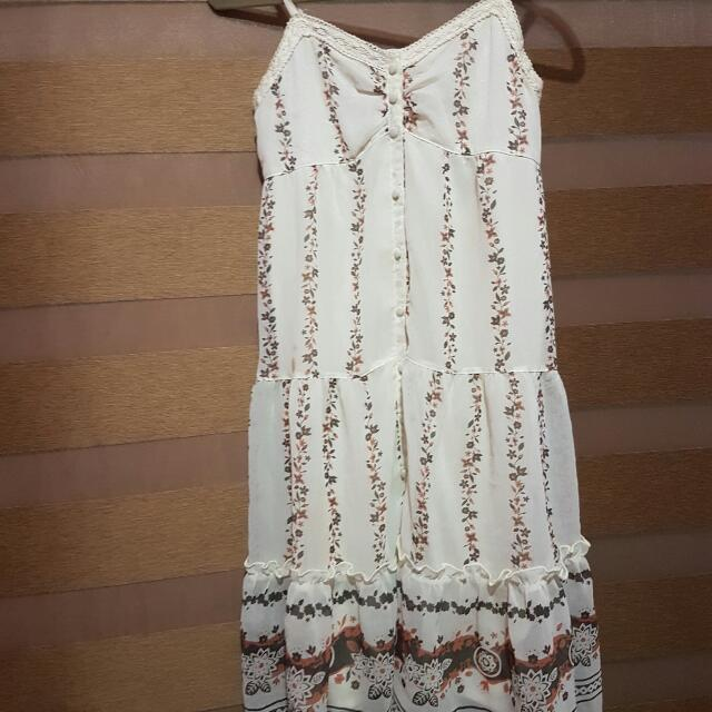Detailed Cream Dress