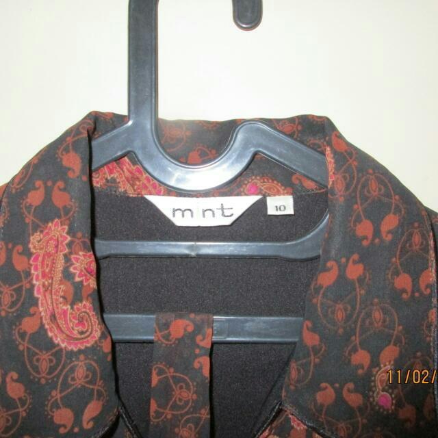 Dress Batik Mint Size 10