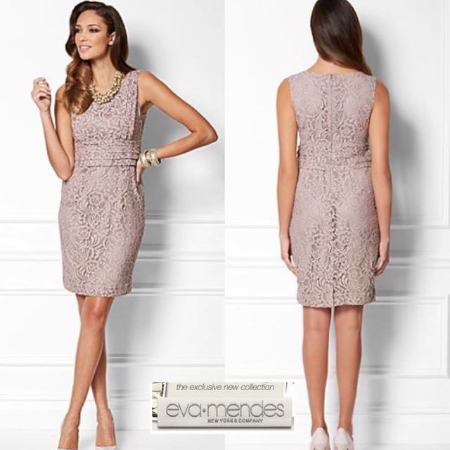 Eva Mendes Lace Party Dress