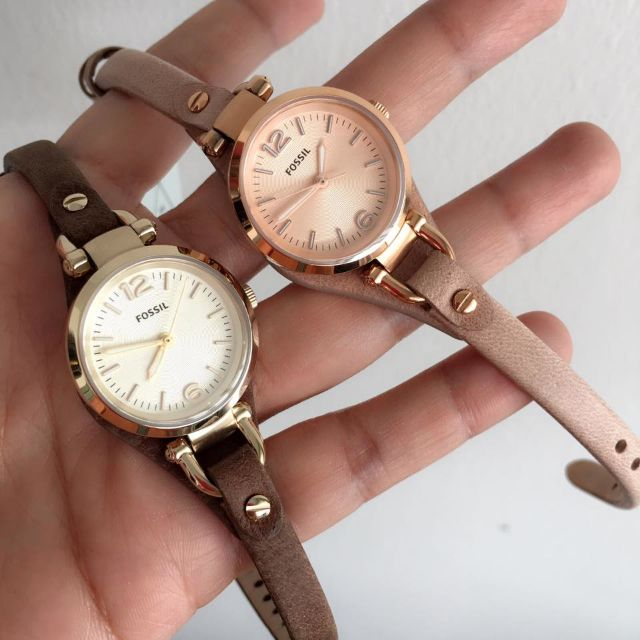 8364453af FOSSIL GEORGIA MINI SAND LEATHER WATCH, Women's Fashion, Watches on  Carousell