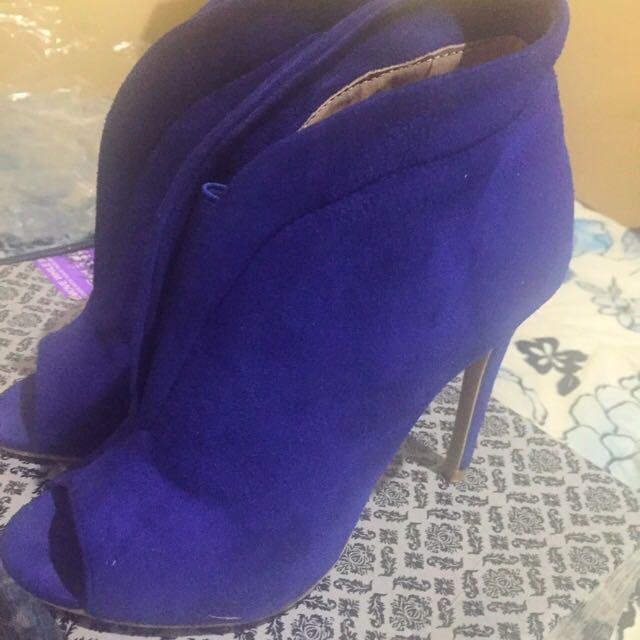 Gamuza Dark Blue High Heels