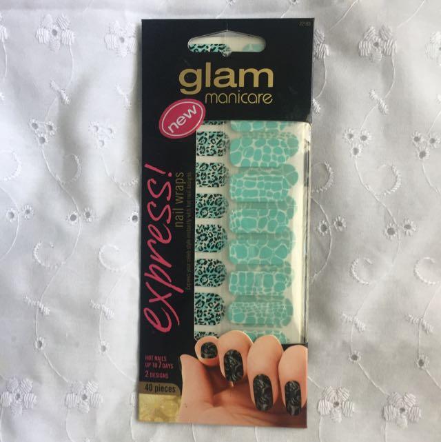 (free postage) Glam Manicare Express Nail Wraps