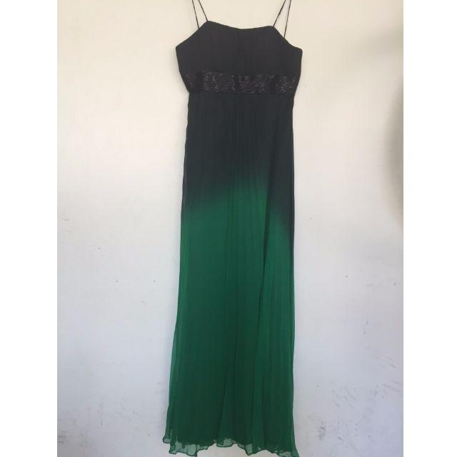 Green & Black Silk Gown #Take5Off