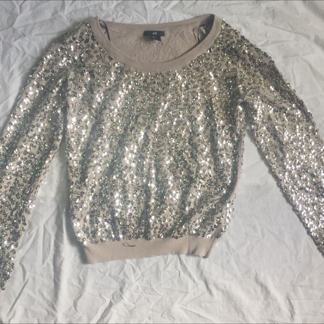 H&M sequined top
