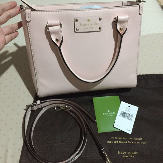 kate spade bag smallquin soft pink