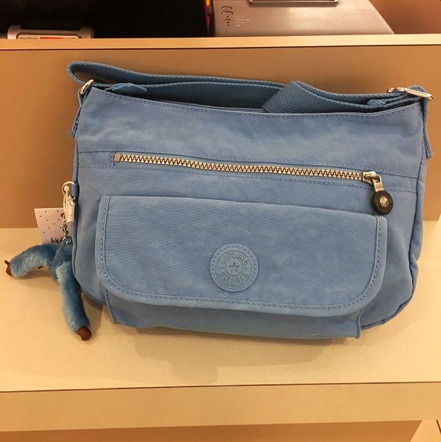 Kipling 美國購入水藍色斜背/肩背包