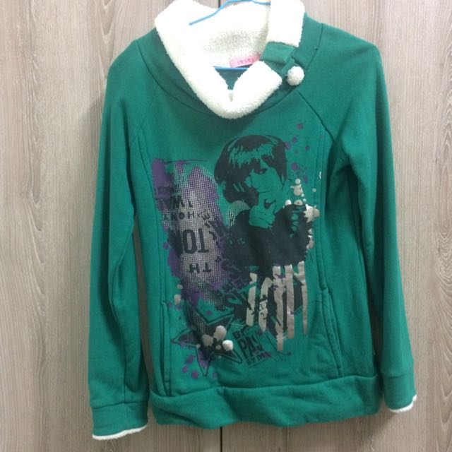Lace專櫃綠色厚上衣