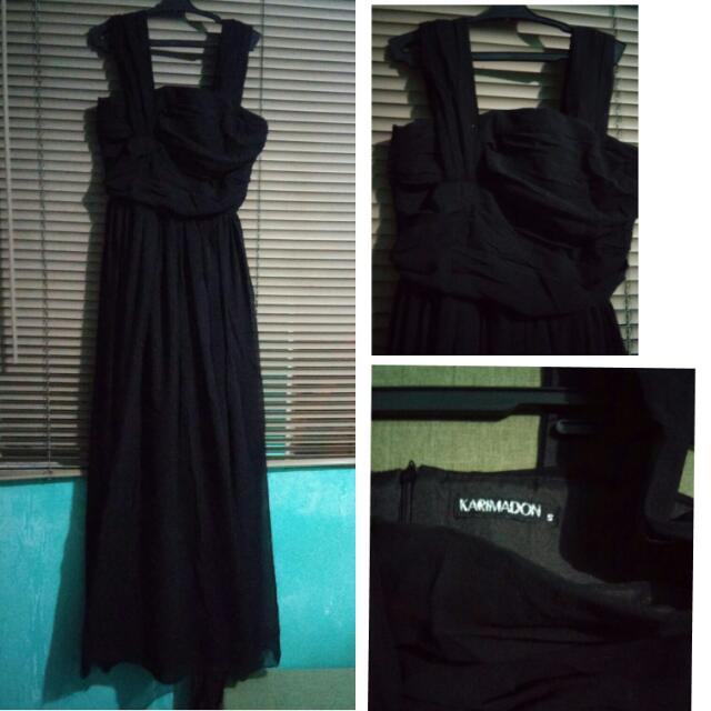 Black Long Dress(KARIMADON) **Belt Not Included **Kindly Read description **Meet Up on Stated Areas Only