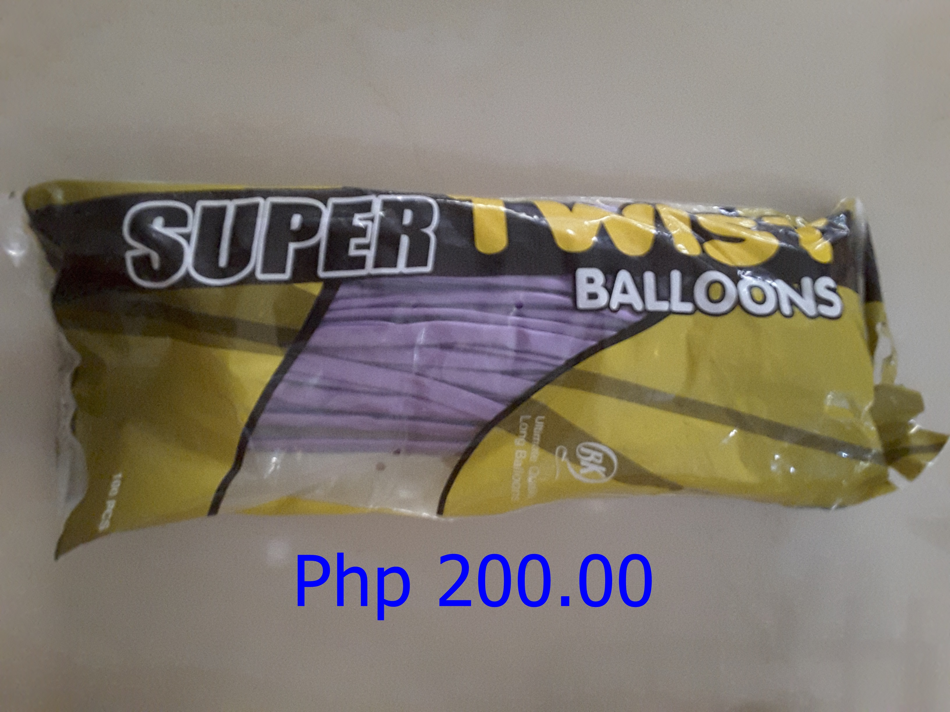 Long Violet Twist Balloons