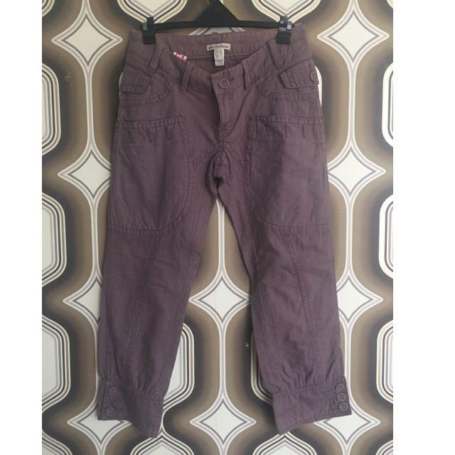 MANGO Vintage Faded Cropped Pants
