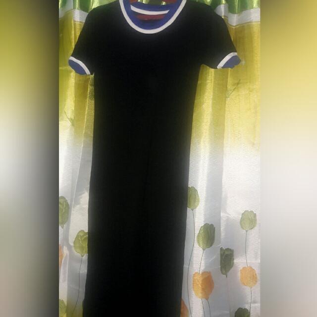 maxi dress (black)