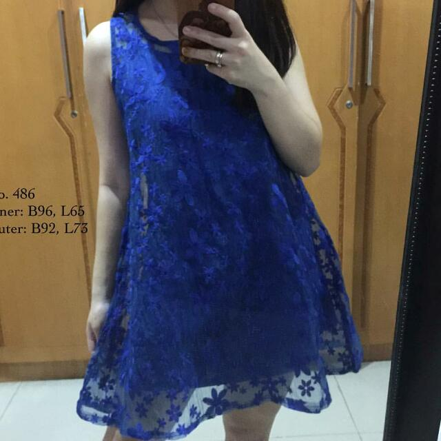 Mini Dress Electic Blue