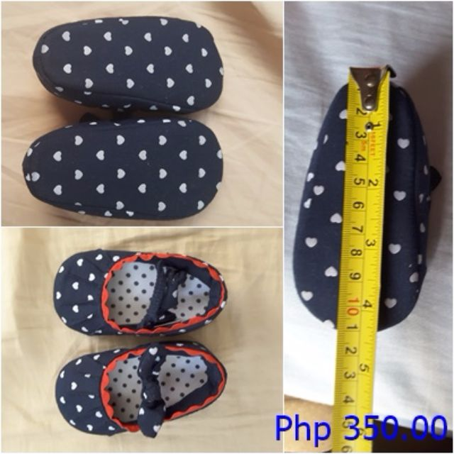 Mothercare Blue Hearts Crib Shoes