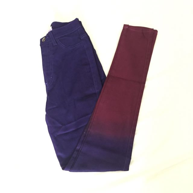 UNUSED Nasty Gal High Waisted Ombre Skinny Jeans