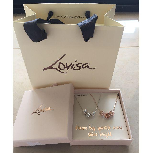New Lovisa Bauble Necklace x 2 silver and rose gold dream big, sparkle more, shine bright