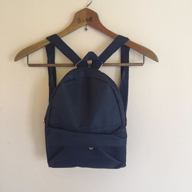 [New] Ransel Mini Polos Navy