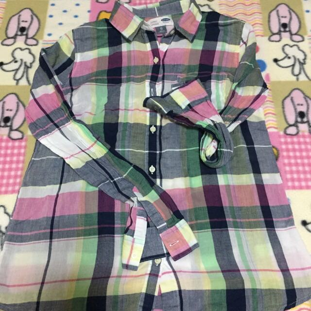 OLD NAVY Chic Checkered Polo Blouse