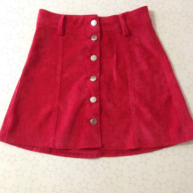 Red Mini Skirt Size 6