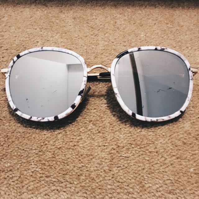 Reflective Marble Sunglasses