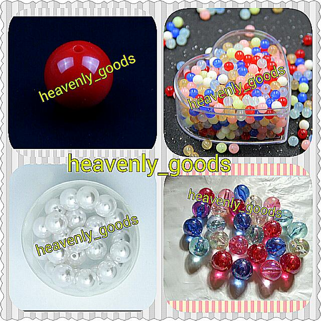 Round Colour Beads Diy Bracelets Necklaces Handmade Craft Jewellery