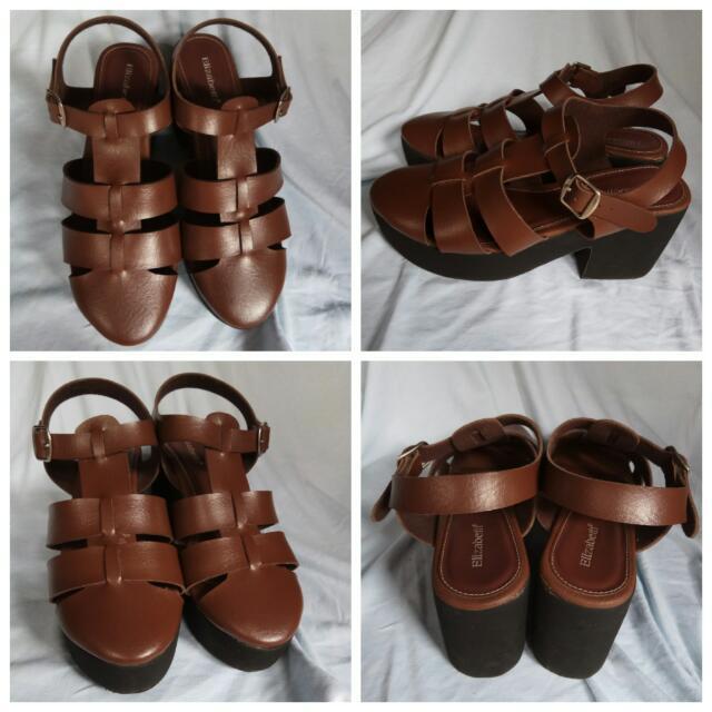 08c5f413a288 Sendal Sepatu Wedges Elizabeth