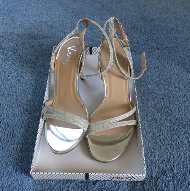 Silver Verali Heels