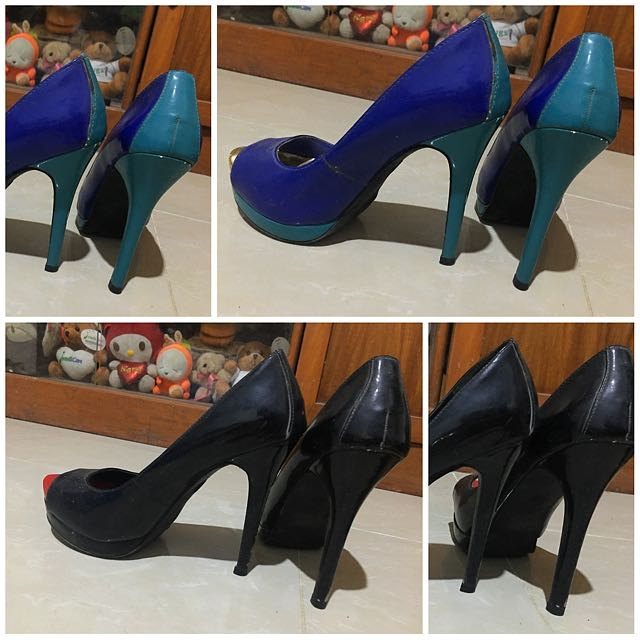 Size 6 1/2 Mossimo Black & Blue Shoes