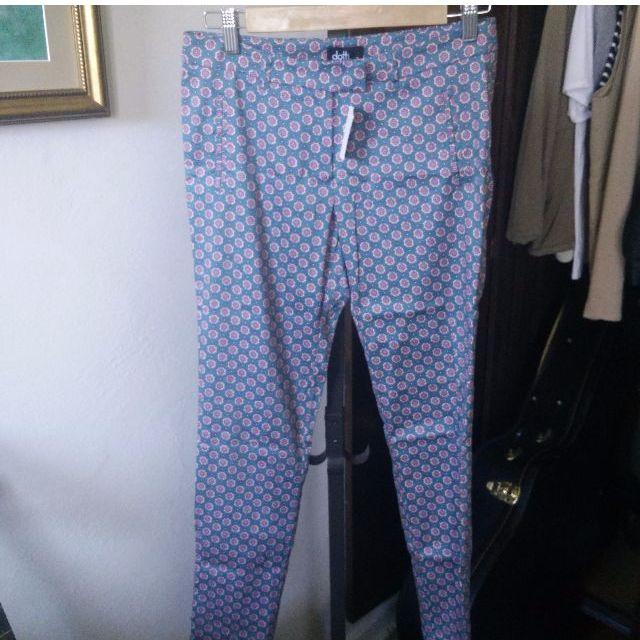 Skinny Fit Floral Pants
