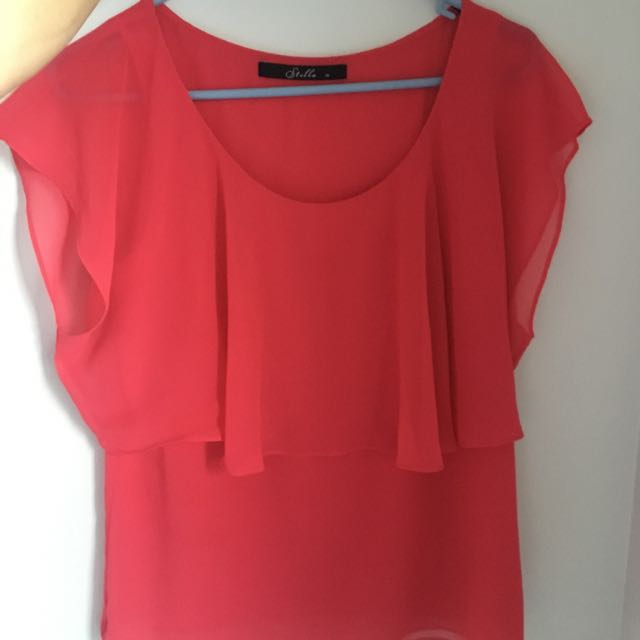 Stella Orange Shirt Sz 10