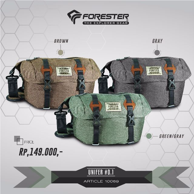 Travel Pouch Forester UNIFIER 0.1 tas selempang sling bag outdoor, Sports, Other Sports Equipment on Carousell