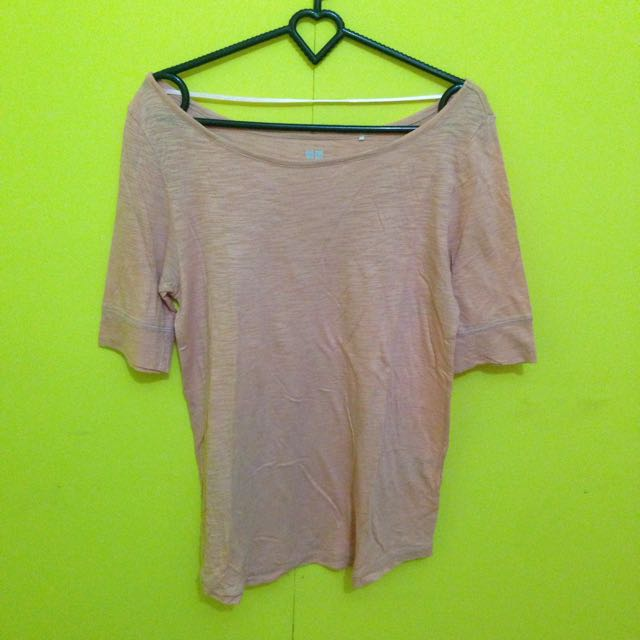T-Shirt Pink Uniqlo