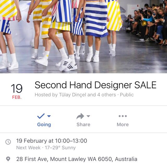 WA PEOPLE COME TO OUR SECOND HAND DESIGNER SALE