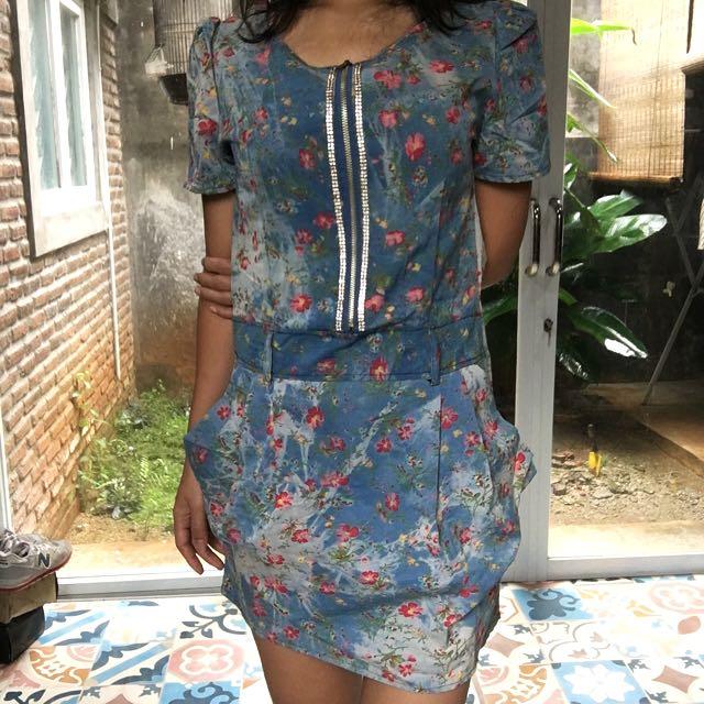 Waste Jeans Mini Dress