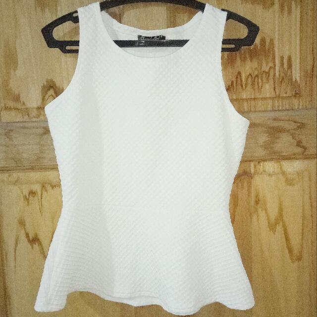 White Semi Formal Sleeveless