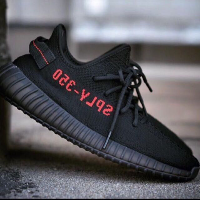 low priced d9913 0432d Latest Yeezy Boost 350 V2 Black Red, Men's Fashion, Footwear ...