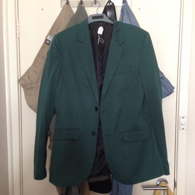 Zara Man Sports Jacket Green