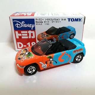 Tomica Disneys Honda Beat Goofy D-18