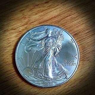 2010 (20pcs) American Eagles Pure 999 Silver Bullion Coin (20pcs In Original Tube)
