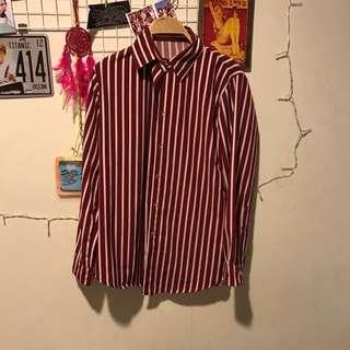 紅白條紋襯衫