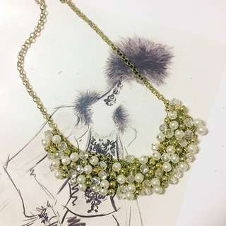 韓國質感珍珠鑽飾短鏈