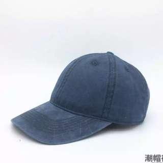 水洗 藏青 帽子 🎩