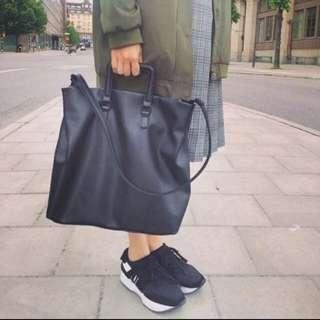 側背 / 手提 / 黑色 包包 大容量👍