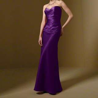 Alfred Angelo Grape Bridesmaid Dress Size 10